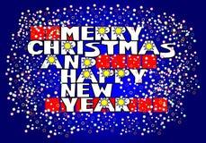 Salutation de Noël Photo libre de droits