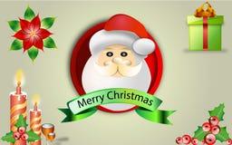 Salutation de Noël illustration stock