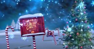 Salutation de Noël avec le message de Joyeux Noël illustration de vecteur