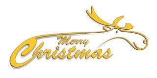 Salutation de Noël avec le renne Photos stock