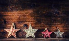 Salutation de Noël Décoration de Noël Étoiles de Noël Ornements de Noël Photographie stock libre de droits