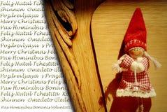Salutation de Noël dans beaucoup de langages Images libres de droits