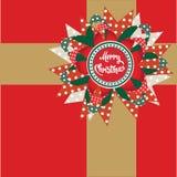 salutation de Noël de décor de cadeau Photo libre de droits