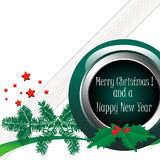 Salutation de Noël et d'an neuf Photos stock