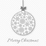 Salutation de Noël et de nouvelle année, carte d'invitation avec Noël Image stock