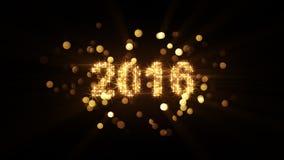 Salutation 2016 de nouvelle année illustration stock