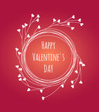 Salutation de Saint-Valentin Photos stock