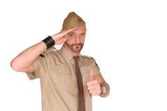 Salutation de soldat photo libre de droits
