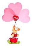 Salutation de Valentine Image stock