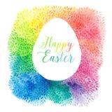 Salutation des cartes florales pour Pâques, vecteur illustration stock