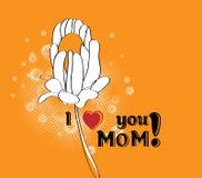 Salutation du jour de mère Image libre de droits