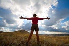 Salutation du soleil Image libre de droits