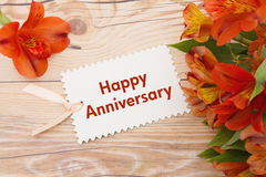 Salutation heureuse d'anniversaire Image stock