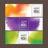 Salutation heureuse de festival de Holi, célébration de Holi, conception de vecteur Images stock
