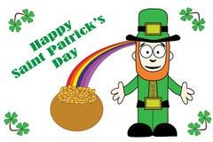 Salutation heureuse de jour de St Patricks Photos stock