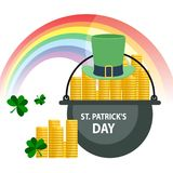 Salutation heureuse de jour du ` s de St Patrick Illustration de Vecteur