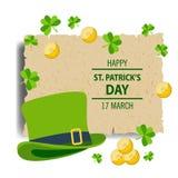 Salutation heureuse de jour du ` s de St Patrick Illustration Stock