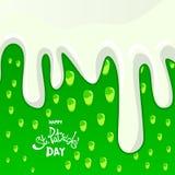 Salutation heureuse de jour du ` s de St Patrick Jour du ` s de St Patrick de lettrage dessus Illustration de Vecteur