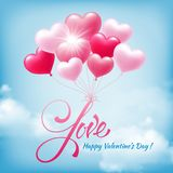 Salutation heureuse de jour de valentines Photographie stock libre de droits