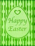 Salutation heureuse de vintage de Pâques Photo stock