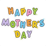 Salutation heureuse du jour de mère Photos stock