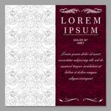 Salutation, invitation, mariage, carte dans le style de vintage, le baroque, rococo, la Renaissance illustration de vecteur