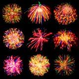 Salutation légère de sphère de feu d'artifice Photo stock