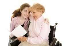 Salutation pour la grand-maman Images stock