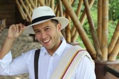 Salutation sud-américaine authentique d'entrepreneur de café photos stock