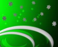Salutation verte de neige Image stock