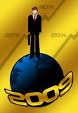 salutations 2009 d'affaires illustration stock