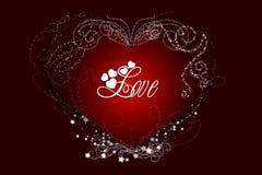 Salutations d'amour Photo stock