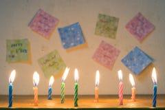 Salutations d'anniversaire Photos stock