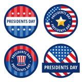 Salutations d'insigne pour le jour de présidents Photo libre de droits