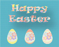 Salutations de carte postale de Joyeuses Pâques Photos libres de droits