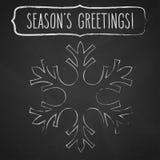 Salutations de flocon de neige et de saison de craie illustration libre de droits