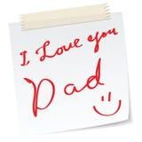 Salutations de jour de père Image stock