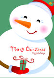 Salutations de Joyeux Noël Image libre de droits