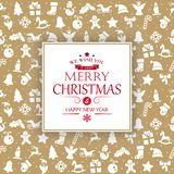 Salutations de Joyeux Noël et de bonne année illustration libre de droits