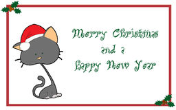 salutations de Noël de carte Photo libre de droits