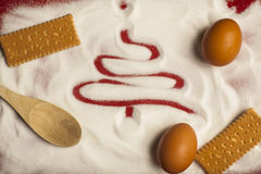 Salutations de Noël 2015 et de nourriture de nouvelle année Images libres de droits