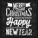 Salutations de Noël et de nouvelle année Photo libre de droits