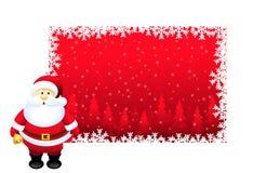 Salutations de Noël et père noël - vecteur Photographie stock
