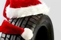 Salutations de Noël pour le commerce de pneu Photographie stock