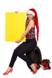 Salutations de Noël pour le commerce de pneu Images stock