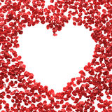 Salutations de pétales de rose Photographie stock