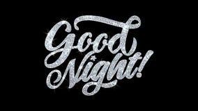 Salutations de particules de souhaits des textes de clignotement de bonne nuit, invitation, fond de célébration illustration libre de droits