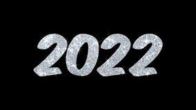 Salutations de particules de souhaits des textes de clignotement de 2022 bonnes années, invitation, fond de célébration illustration libre de droits