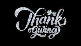 Salutations de particules de souhaits des textes de clignotement de thanksgiving, invitation, fond de célébration illustration de vecteur