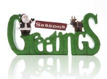 Salutations de saisons Image libre de droits